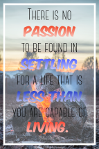 No Passion in Settling: May 23, 2017